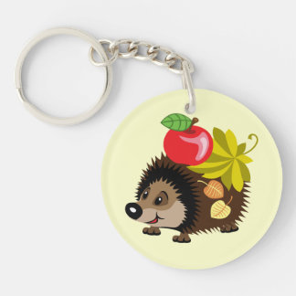 cartoon hedgehog keychain