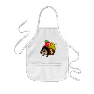 cartoon hedgehog kids' apron