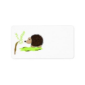Cartoon Hedgehog Label