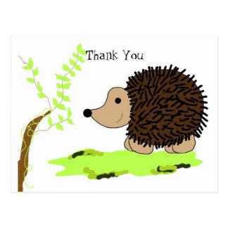 Cartoon Hedgehog Postcard