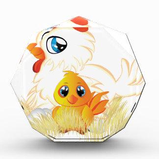 Cartoon Hen and Chicken Acrylic Award