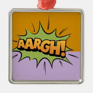 Cartoon Hero Metal Ornament