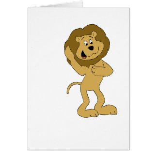 Cartoon Hip Hop Lion Doing The Dougie Card