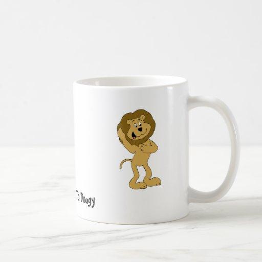 Cartoon Hip Hop Lion Doing The Dougie Coffee Mugs