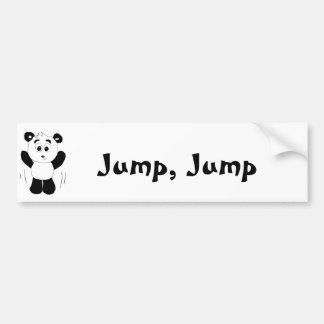 Cartoon Hip Hop Panda Bear Bumper Stickers