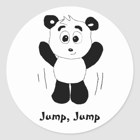 Cartoon Hip Hop Panda Bear Classic Round Sticker