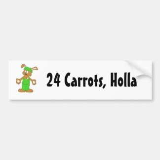 Cartoon Hip Hop Rabbit With Bing Bing Bumper Sticker