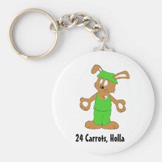 Cartoon Hip Hop Rabbit With Bing Bing Keychain