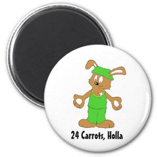 Cartoon Hip Hop Rabbit With Bing Bing Magnet