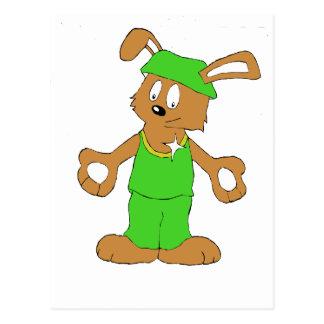 Cartoon HIp Hop Rabbit With Bing Bing Postcard