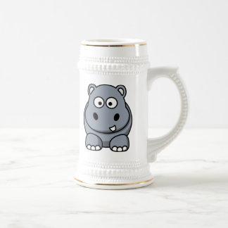 Cartoon Hippo 18 Oz Beer Stein