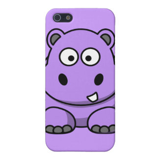 cartoon-hippo cute adorable friendly purple iPhone SE/5/5s cover