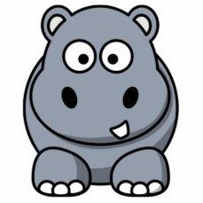 Cartoon Hippo Cutout