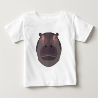 Cartoon Hippo Head Baby T-Shirt