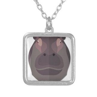 Cartoon Hippo Head Pendant