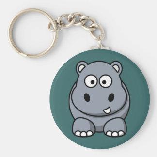 Cartoon Hippo Key Chain