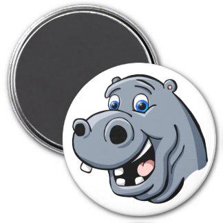 Cartoon Hippo Refrigerator Magnets