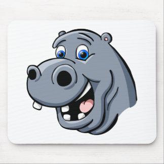 Cartoon Hippo Mouse Pad