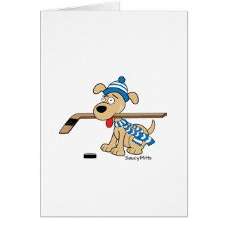 Cartoon Hockey Dog Card