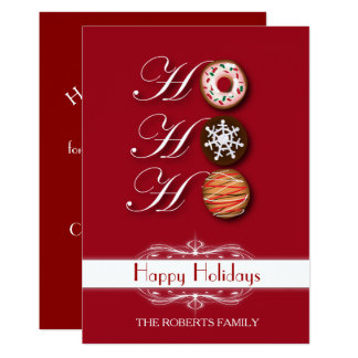 Cartoon HoHoHo Christmas Cookies Happy Holiday Card