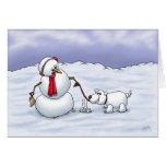 Cartoon Holiday Cards: Good Snow Dog