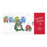 Cartoon Holiday KIWIshes Card Photo Greeting Card