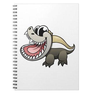 Cartoon Honey Badger Notebook