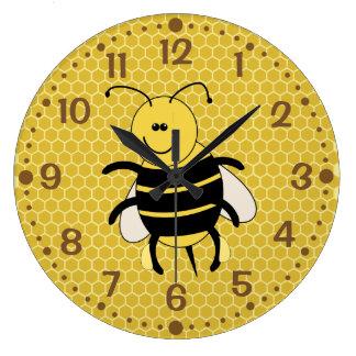 Cartoon Honey Bee Wall Clock for Beekeeper Apiary