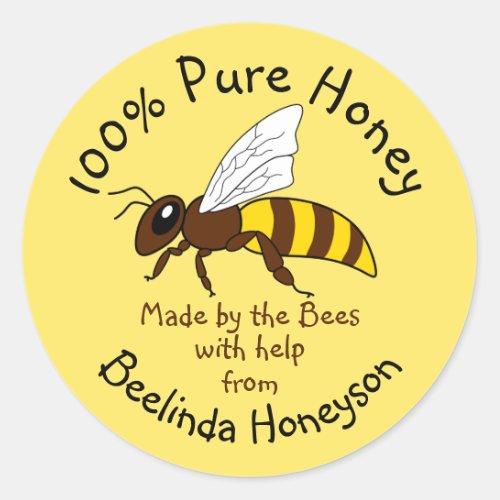 Cartoon Honey Jar Label Stickers