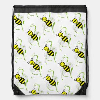 Cartoon Honeybee Bee Drawstring Bag
