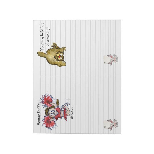 Cartoon Hooray For You Double Notepad