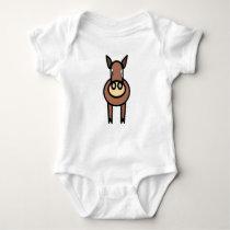 Cartoon Horse Baby Bodysuit