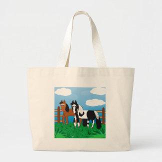 Cartoon horse tote bag