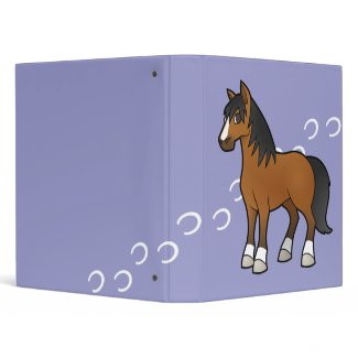 Cartoon Horse 3 Ring Binders
