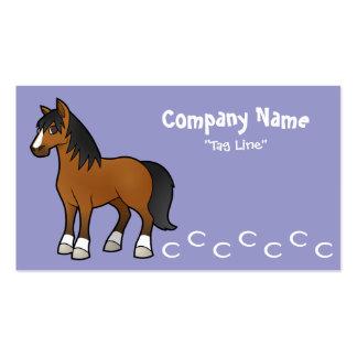 Cartoon Horse Business Card Template