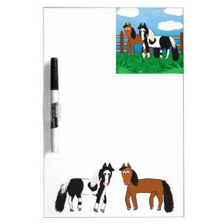 Cartoon horse dry erase board