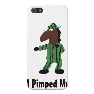 Cartoon Horse In Green Suit Case For iPhone SE/5/5s