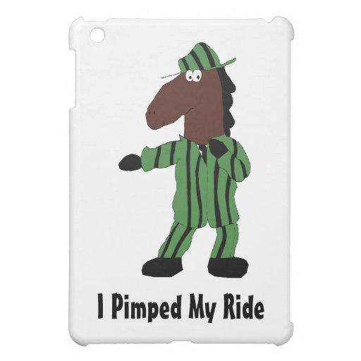 Cartoon Horse In Green Suit iPad Mini Covers