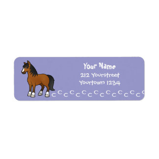 Cartoon Horse Label