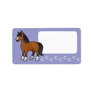 Cartoon Horse Custom Address Label