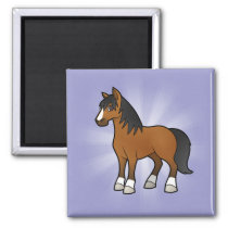 Cartoon Horse Magnet