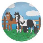 Cartoon horse party plates