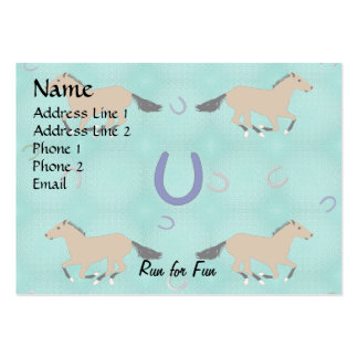 Cartoon Horse Pattern Large Business Cards (Pack Of 100)