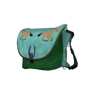 Cartoon Horse Pattern Messenger Bags