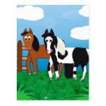 Cartoon horse post card