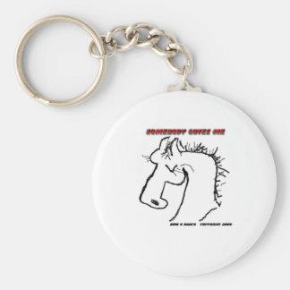 Cartoon Horse: Somebody Loves Me Keychain