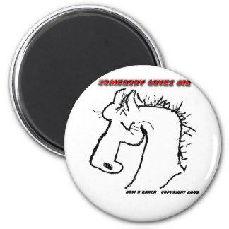 Cartoon Horse: Somebody Loves Me Refrigerator Magnets