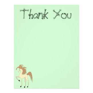 Cartoon Horse Thank You Paper Letterhead