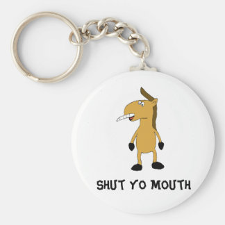 Cartoon Horse With Over Bite Keychain