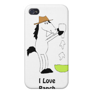 Cartoon Horse With Ranch Dressing iPhone 4 Cover